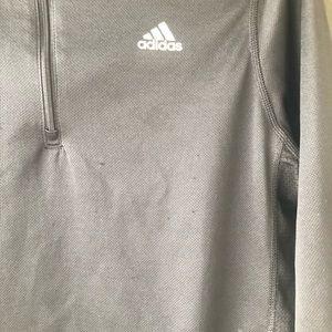 adidas Jackets & Coats - Adidas Black White Zip Up Sweater Small